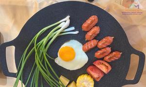 Chảo nướng chống dính Hàn Quốc Ecoramic 33cm