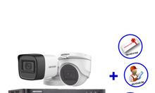 Trọn bộ 2 camera HIKVISION HD1080P có âm thanh