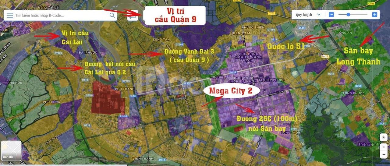 Cần bán 2 lô mặt tiền 25C đối diện Long Tân Nhơn Trạch