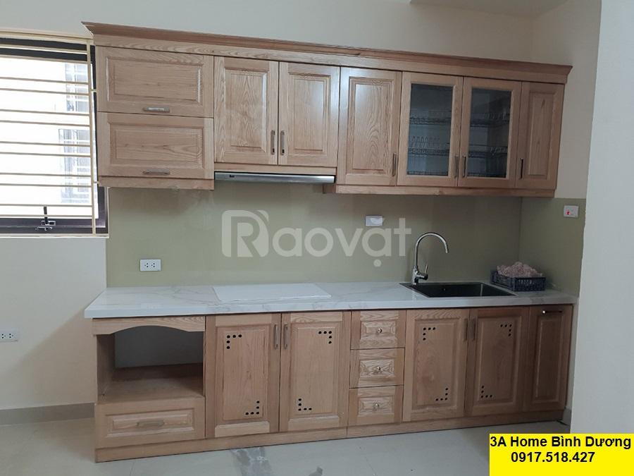 Tủ bếp gỗ sồi tại Bình Dương, giá rẻ chất lượng
