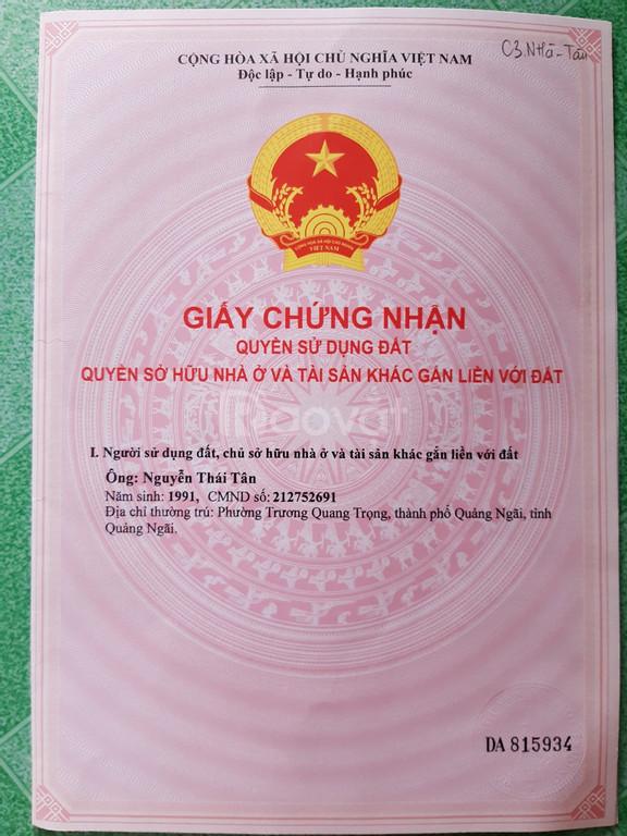 Bán đất sổ hồng TP Quảng Ngãi 100m2