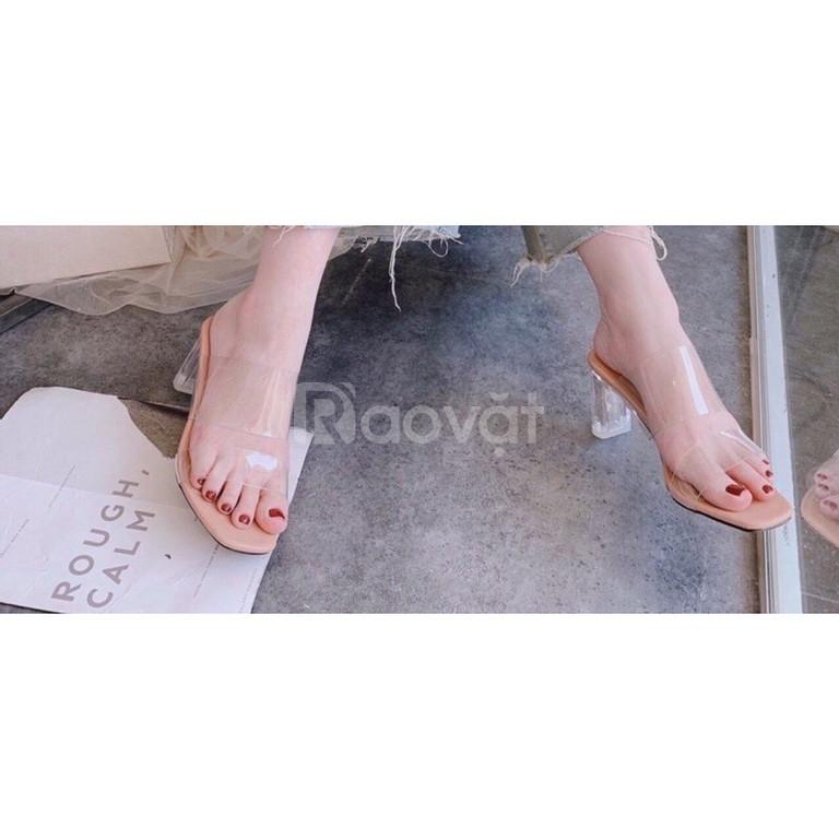 Guốc nữ 2 quai trong gót trong cao 7cm, đẹp, thời trang