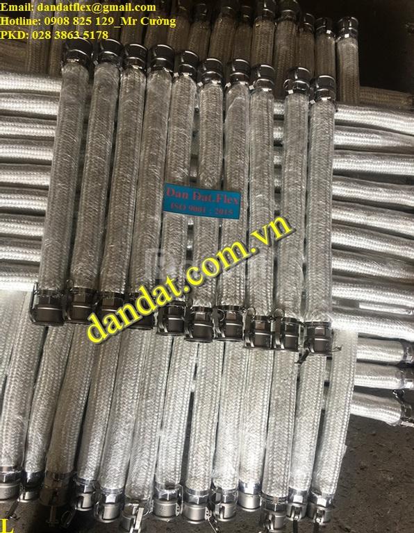 Ống mềm inox chịu nhiệt DN65, Ống mềm inox lắp ren, ống nối mềm inox