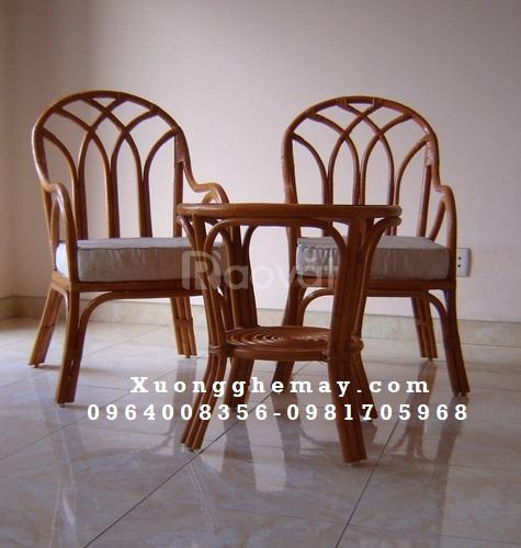 Bàn ghế mây đan, bàn ghế mây uống trà