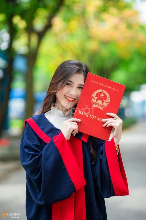 May và cho thuê áo cử nhân, lễ phục tốt nghiệp các cấp tại TPHCM