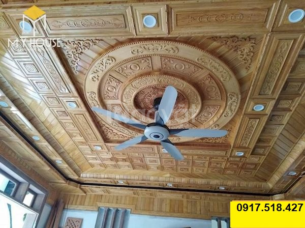 Thi công trần gỗ xoan tại Bình Dương giá rẻ mẫu đẹp