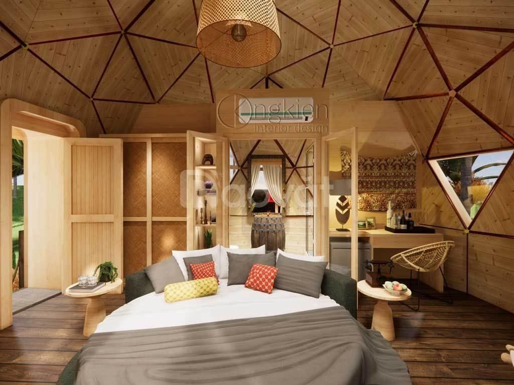 Nhà gỗ lắp ghép độc đáo 30m2 cho du lịch nghỉ dưỡng