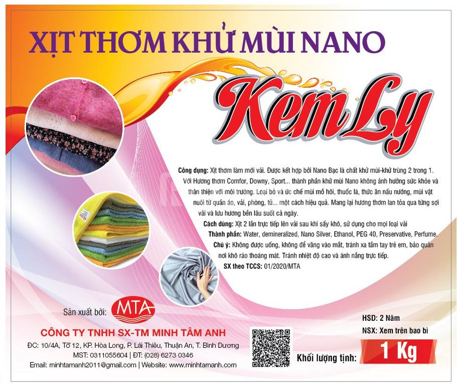 Xịt thơm khử mùi nano Kem Ly