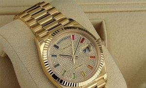 Rolex daydate full gold diamond new fullbox