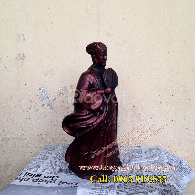 Tượng Khổng Minh cao 25cm, tượng Gia Cát Lượng phong thủy