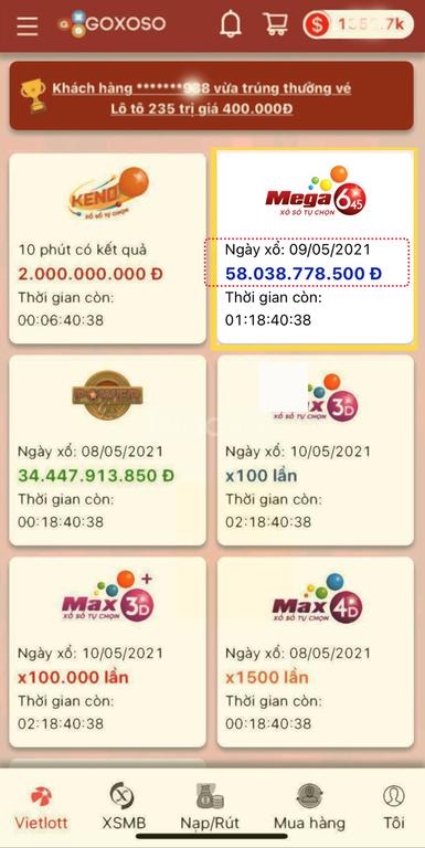 Dịch vụ mua hộ vé số tự chọn online