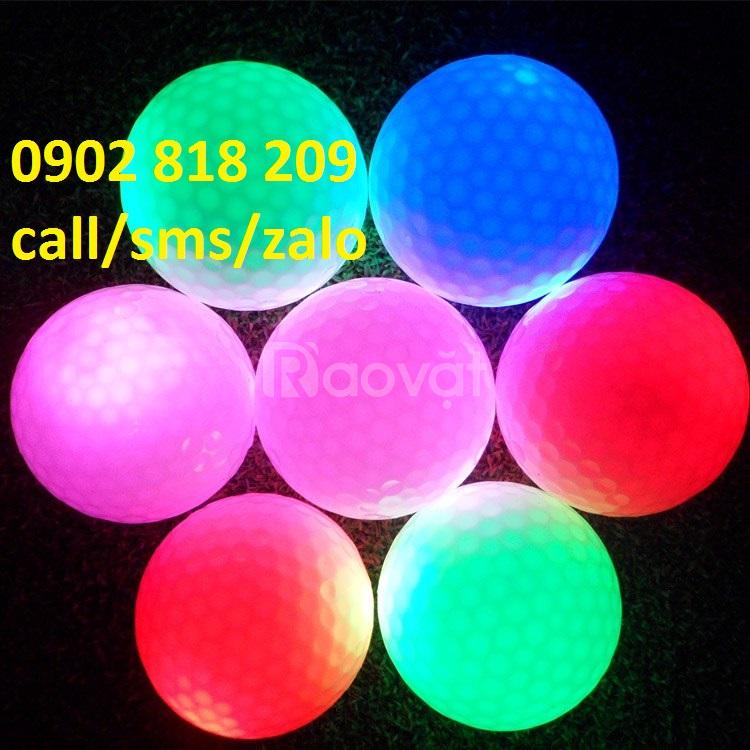 Bóng golf phát sáng chơi golf buổi tối, bóng golf đèn led
