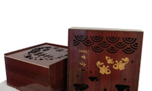 In hộp bánh trung thu gỗ