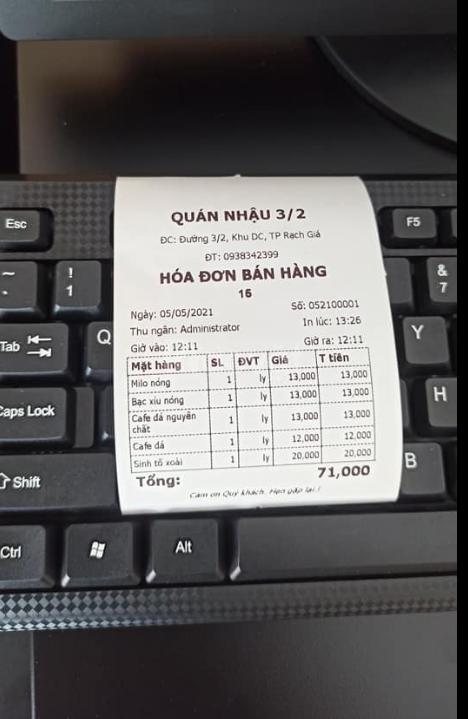 Máy tính tiền giá rẻ
