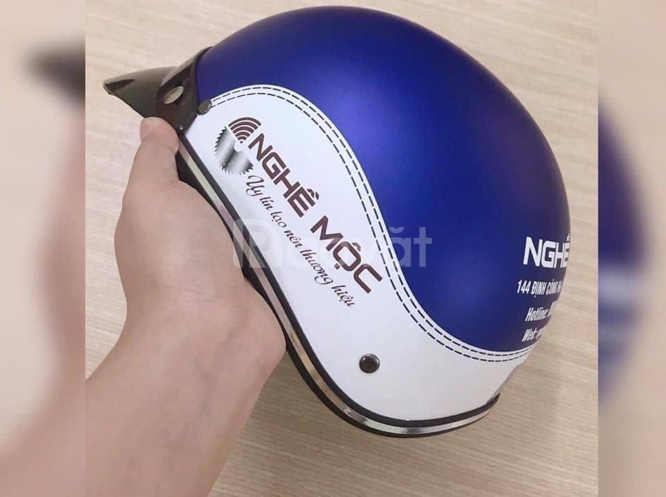 Mũ bảo hiểm in logo giá rẻ