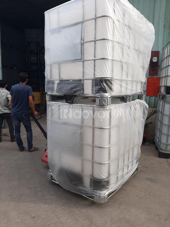 Bồn nhựa đựng hóa chất Ibc 1000L