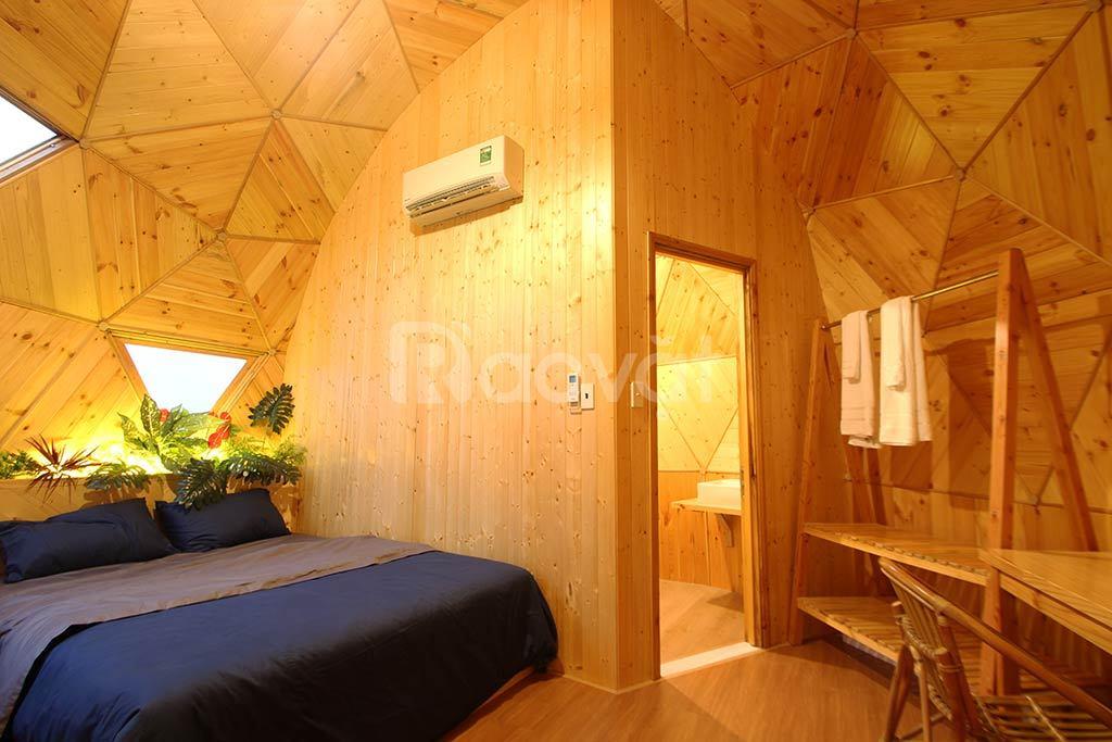 Nhà gỗ lắp ghép 20m2 cho ngành du lịch nghỉ dưỡng
