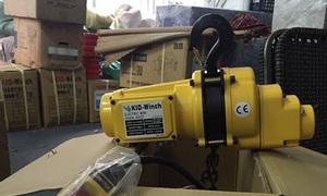 Pa lăng xích điện Kio Đài Loan 500kg, 1 tấn CH500, CH1000 điện 220v