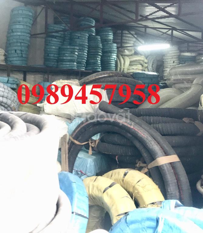 Ống cao su hút nước D32, ống cao su bố vải 5lớp phi 38, phi 60, phi 65