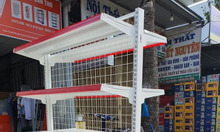 Kệ sắt siêu thị đôi lưng lưới cao 1.8m và dài 0.9m