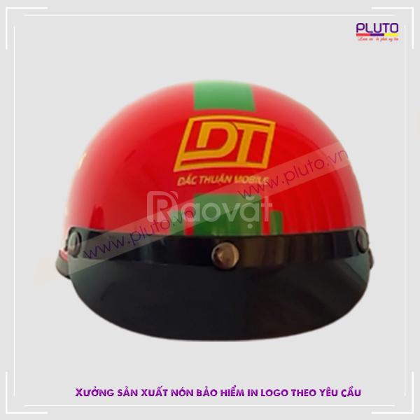 Sản xuất nón bảo hiểm in logo quảng cáo PLUTO