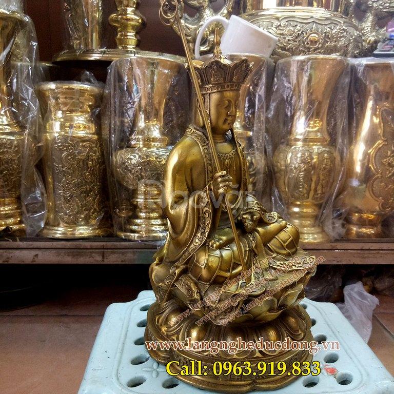 Địa tạng Bồ Tát, địa tạng Vương Bồ Tát, tượng Phật bằng đồng