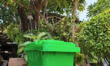 Thùng rác 240l dùng đựng rác nơi công cộng