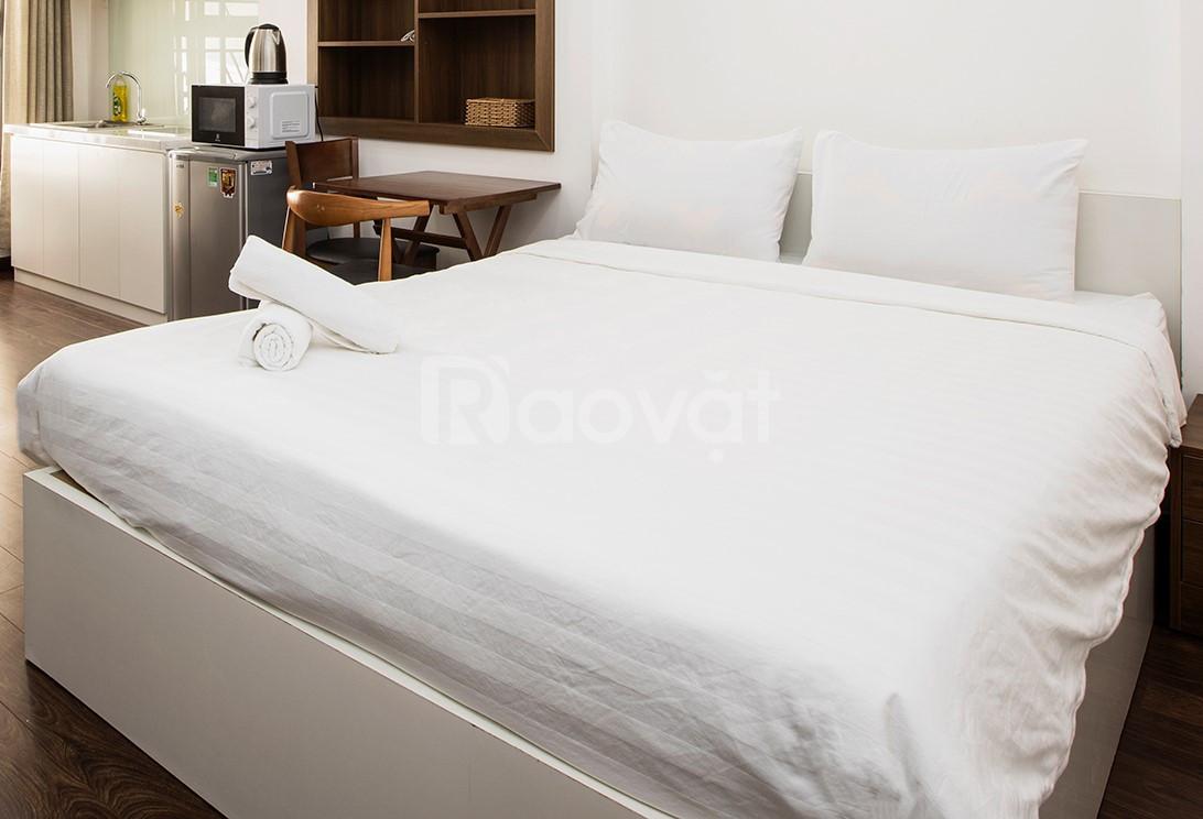 Giường gỗ 1m6 kiểu hiện đại, màu trắng, mới, đẹp