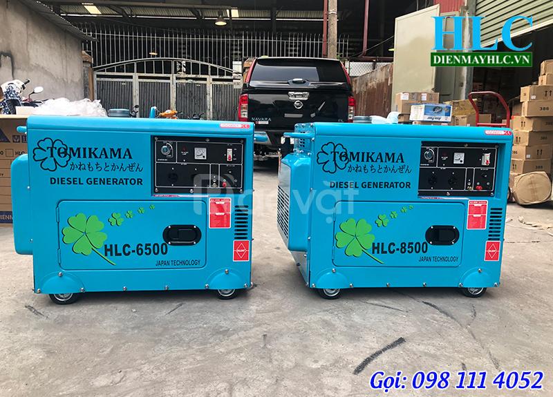 Tìm hiểu dòng máy phát điện chạy dầu cách âm Tomikama 6500