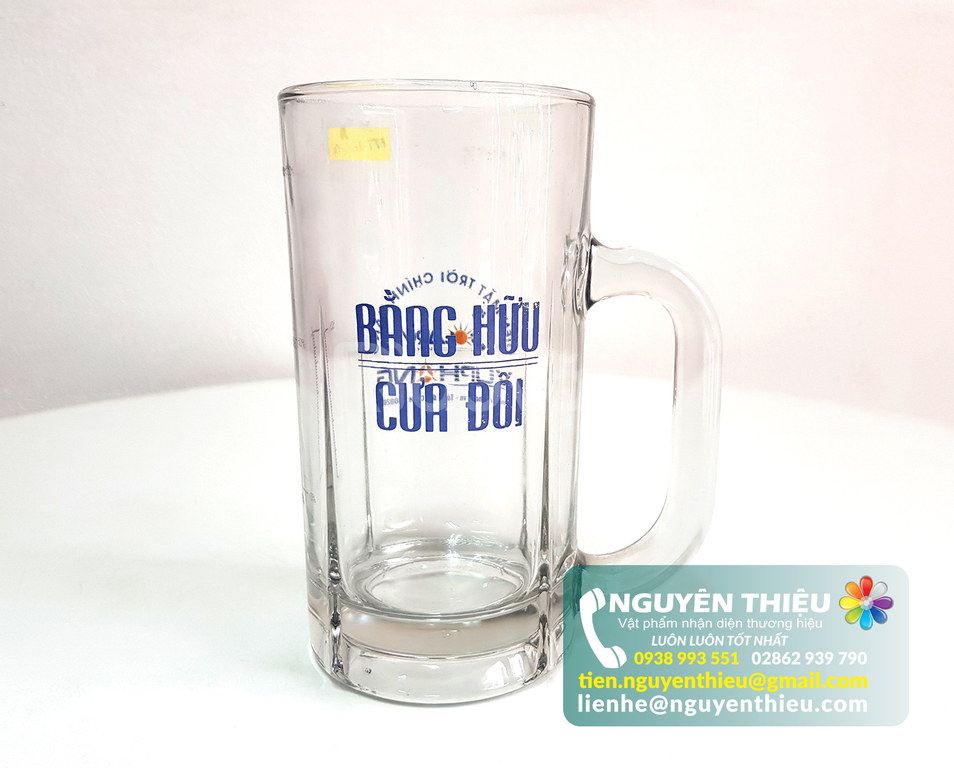 In logo lên ly thủy tinh số lượng lớn, in logo lên ly thủy tinh giá rẻ