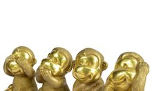 Tượng khỉ đồng, tượng tứ đại giai không, bộ tượng 4 khỉ, giá tượng khỉ