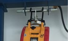 Tời điện mini xách tay có điều khiển từ xa 250kg, 500kg cáp 30m
