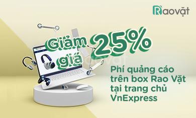 Giảm giá 25% chi phí quảng cáo Rao vặt trên Trang chủ VnExpress
