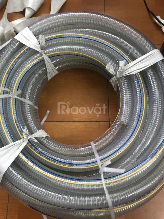 Ống nhựa lõi kẽm xoắn lò xo nhựa PVC trong suốt
