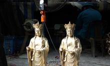 Tượng địa tạng Bồ Tát đứng cao 45cm