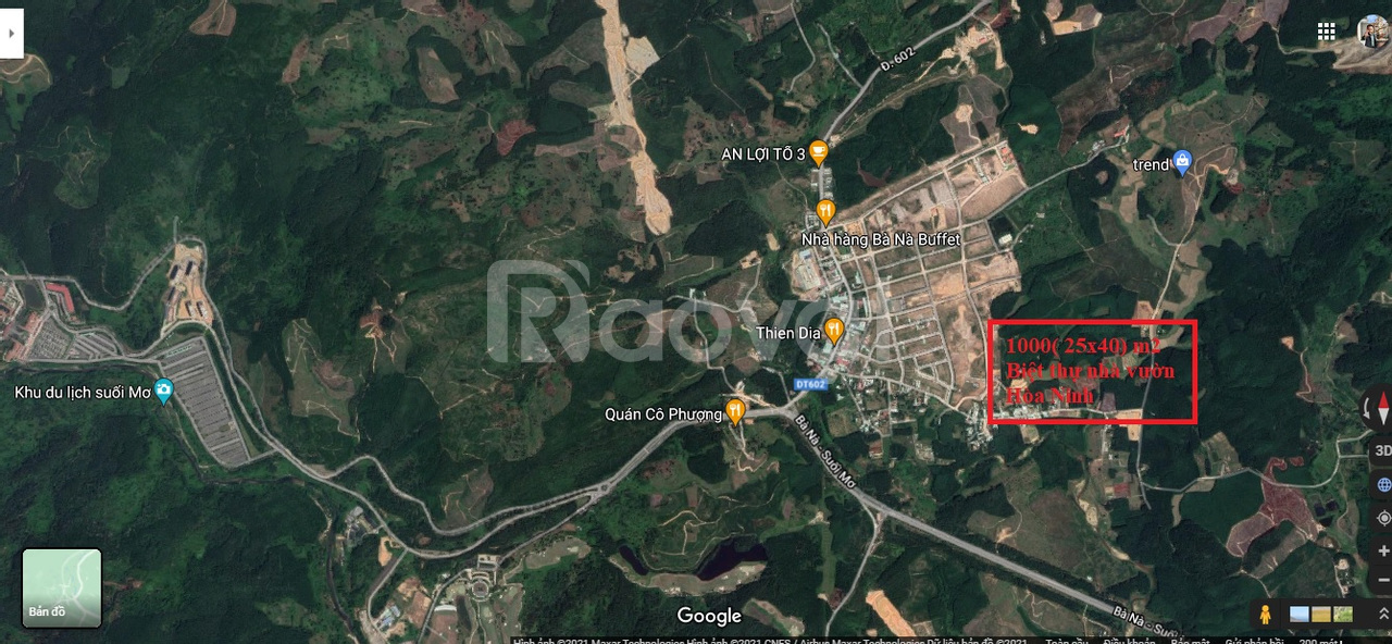 Bán đất biệt thự nhà vườn Hòa Ninh, Hòa Vang, Đà Nẵng,  Bà Nà Hill