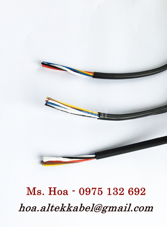 Cáp tín hiệu âm thanh 2x0.22mm2, cáp tín hiệu chống nhiễu