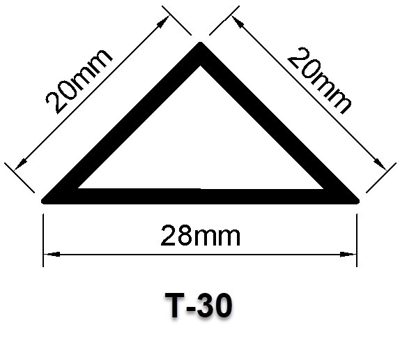 Nẹp nhựa chamfer dùng thi công cột, cạnh, dầm bê tông T30