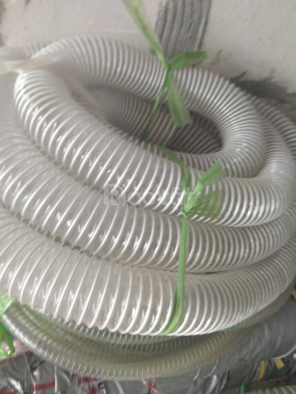 Ống hút bụi lõi thép trắng trong đàn hồi tốt d150, d200, d250