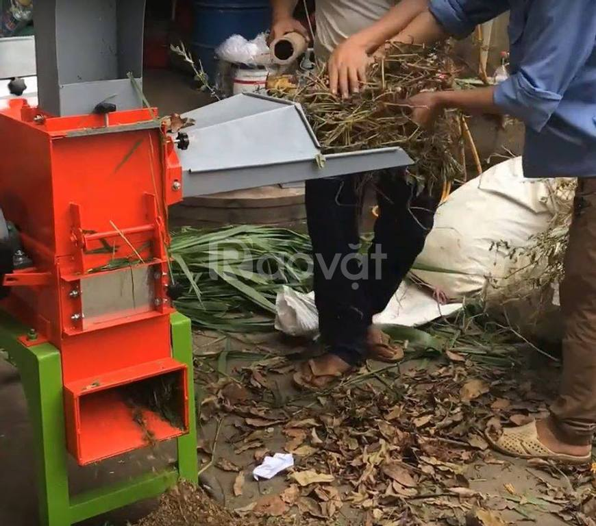 Máy băm xơ dừa dùng điện gia đình, băm cỏ, nghiền ngô, băm bã mía