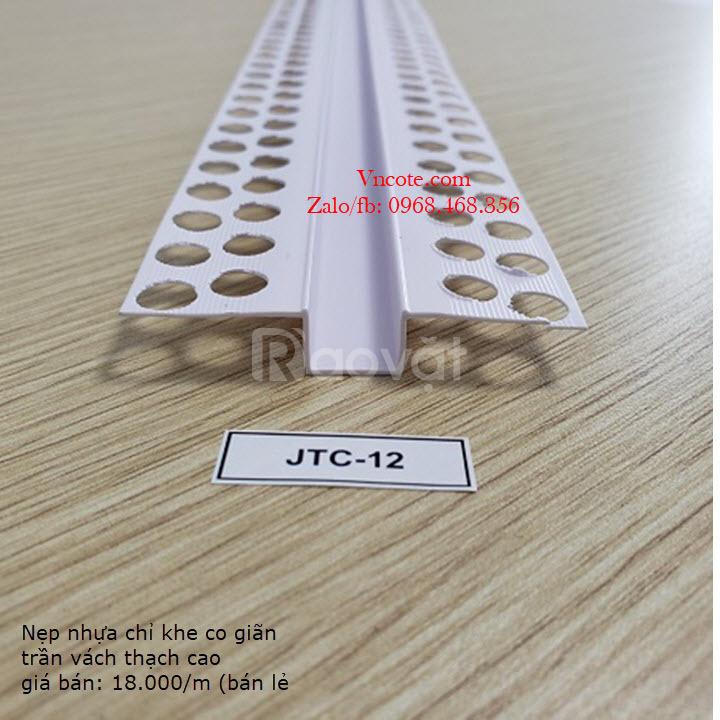 Nẹp nhựa khe co giãn trần vách thạch cao JTC-12