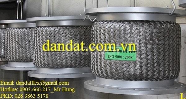 Khớp nối mềm lắp bích, dây mềm inox, dây nối mềm chịu nhiệt inox 304