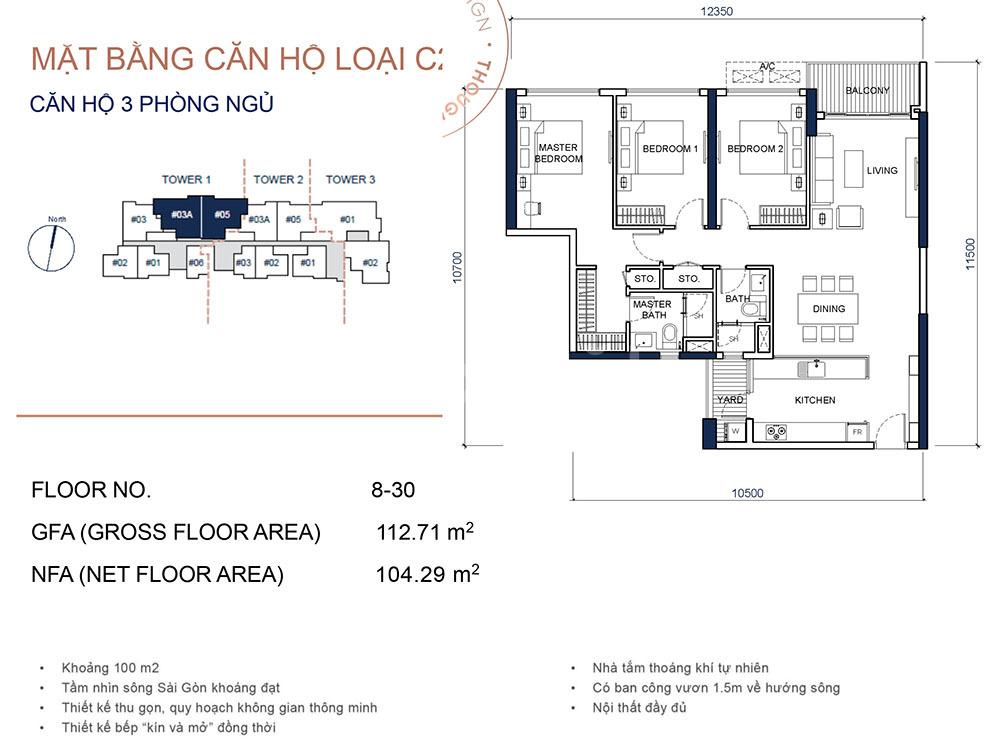 Căn hộ 3 PN cho thuê tại Quận 2 Thảo Điền, giá tốt