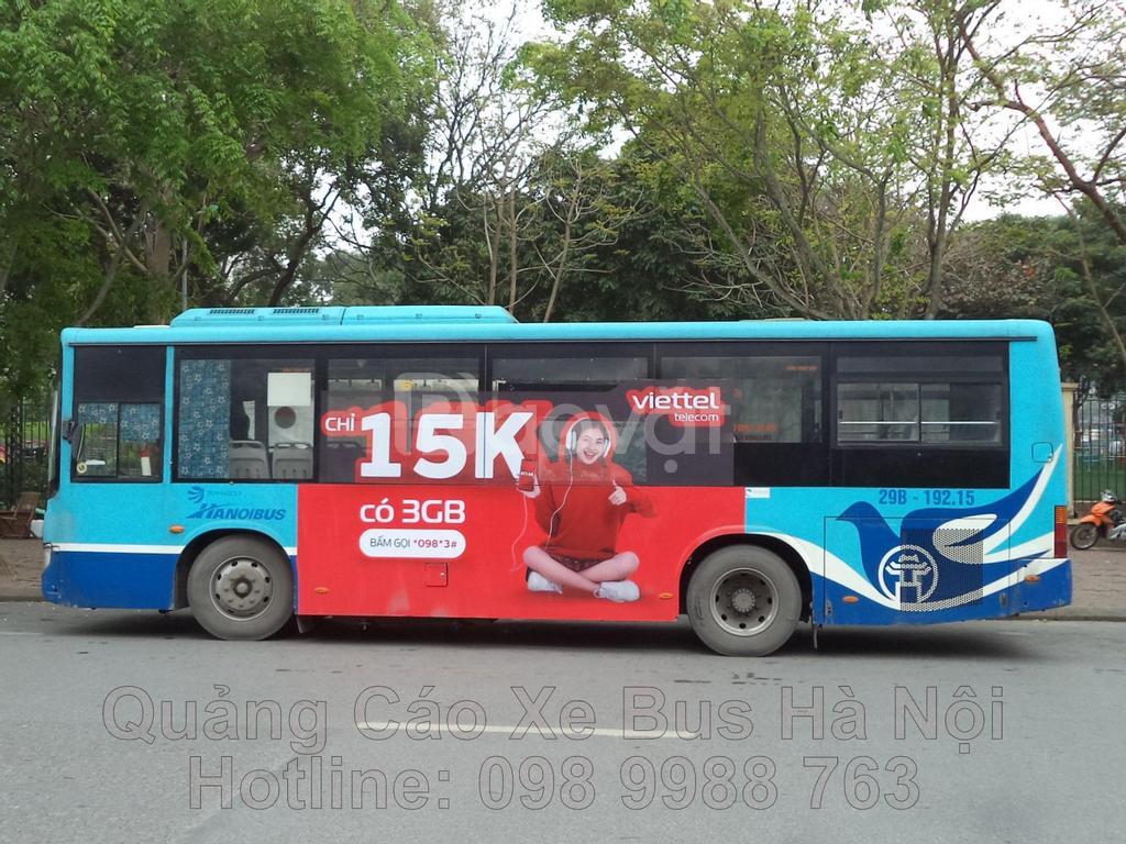 Quảng cáo trên xe Bus tại Hà Nội