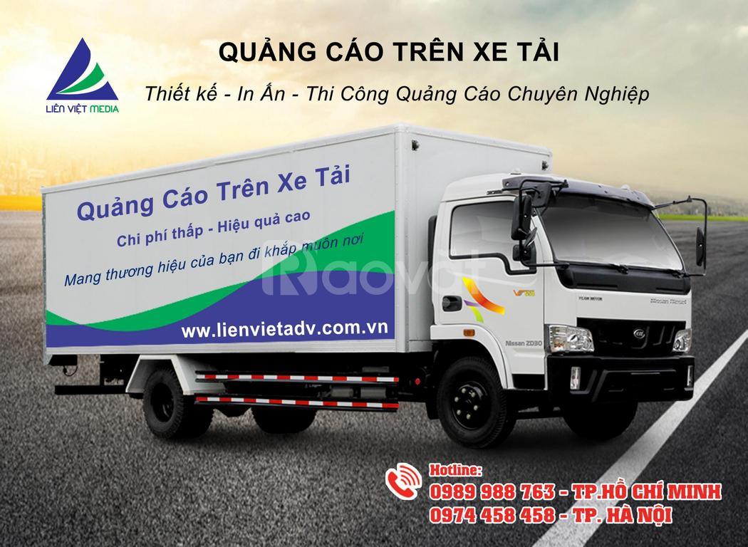 Dán quảng cáo trên xe tải và ô tô các loại