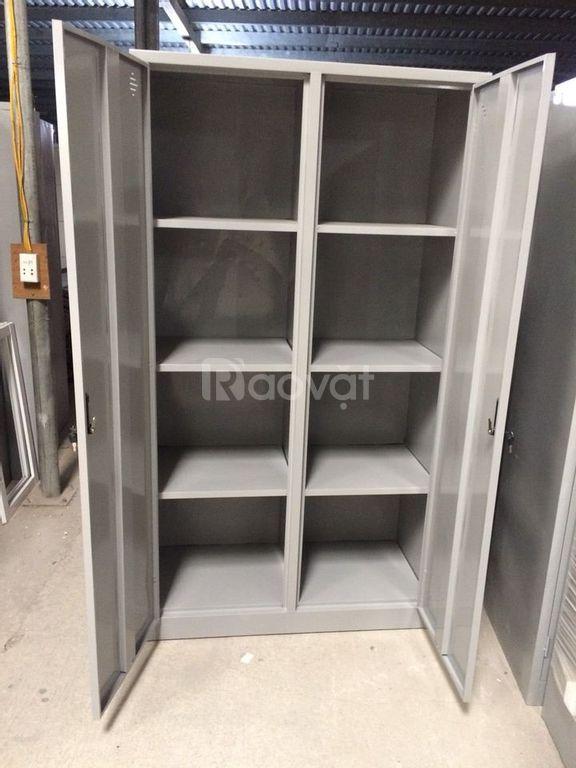 Tủ đựng hồ sơ tài liệu văn phòng 2 cánh sắt