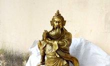 Tượng quan công cao 50cm, tượng quan công phong thủy bằng đồng