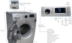 Máy giặt sấy tự động 10kg sấy 6kg WD10FM