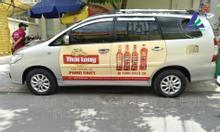 Dán quảng cáo trên xe hơi và xe tải của nhãn hàng nước mắm Thái Long