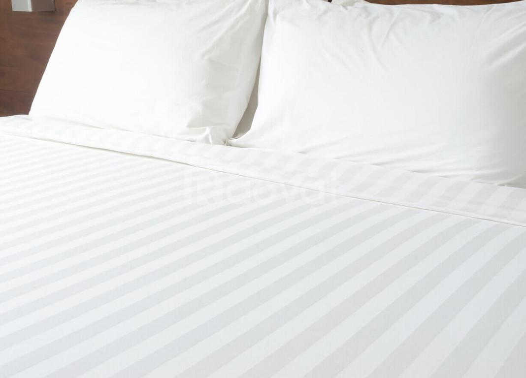 Bộ ga drap giường thun màu trắng, mới, đẹp